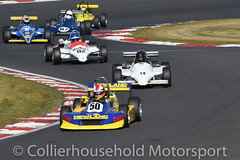 Classic F3 - R1 (1) Adrian Langridge leads the pack (Collierhousehold_Motorsport) Tags: hscc brandshatch historicracing historicsportscarclub msv classicf3 formula3 f3 raltrt3 march793 reynard