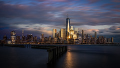 New York Sunset (Bastian.K) Tags: new york manhattan moments time nyc blend exposure blending hoboken jersey one world trade center sunset sunrise blue hour sunstar blende blendenstern sigma 35mm 12 sony a7rii water waterfront sea