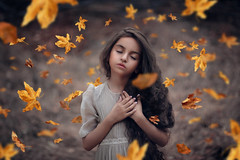 Autumn Dreams ({jessica drossin}) Tags: jessicadrossin child girl leaves autumn flowing fall pretty face hair wind dreamy dream wwwjessicadrossincom