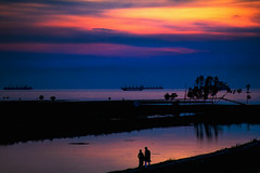 Two lovers (Hasnat Islam Rizon) Tags: sunset couple bangladesh beach people explore nature happyplanet asiafavorites