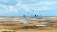 At the Seaside (George Plakides) Tags: seaside beach sand tide sea people germany westerheversand historischersteckenstieg nationalpark