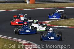 Historic FFord 2000 - R1 (1) Nelson Rowe leads the pack (Collierhousehold_Motorsport) Tags: hscc brandshatch historicracing historicsportscarclub msv formulaford2000 reynard fford2000 deltat78