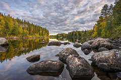 Vuoksi (Taavi Salakka) Tags: imatra finland lake river water waterscape nature naturephotography natureoffinland rocks sky autumn canon suomi forest reflection rock reflect sony a7 1740mm 1740l clouds trees dusk evening