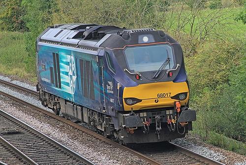 Class 68 68017 DRS Budbrook Junction 25-09-2019