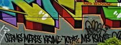 Graffiti Mural. Bushwick. Brooklyn. JERMS, MERES. KRYME. TOPAZ. SHYNE. RAPID RESPONSE. (Allan Ludwig) Tags: graffitidetail bushwick brooklyn jerms meres topaz ms shyne rapidresponse