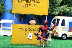 Lucy - Why Can't I Get Ahead? (MayorPaprika) Tags: booth lucy peanuts icecream nickel charlesschulz pvc applause psychiatrist sylvanian calicocritters lucyvanpelt park truck candy spiderman cart 112 medicom mafex