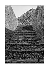 Where does this staircase lead? (Armin Fuchs) Tags: arminfuchs nomansland citadelle sisteron stairway rock mountain light shadow niftyfifty anonymousvisitor thomaslistl wolfiwolf jazzinbaggies