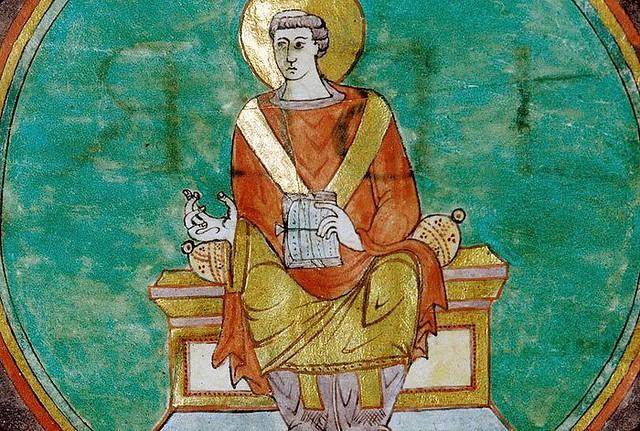 73 св. Григорий Турский ( 538 -594 гг.) Миниатюра из сакраментария IX в