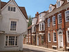 Typical architecture of a Thames-side town. Abingdon, Oxfordshire, England