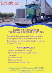 Domestic & Nationwide Freight Trucking Ontario Quebec NY Florida NJ | ProLogistics Carriers (Airport Drop Limo, proLogistictics Carriers, Jaspe) Tags: prologistics carriers trucking shipping services company canada usa domestic nationwide freight ontario florida