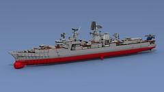 Kara (Lego shipyard) Tags: lego warship cruiser large antisubmarine ship 1134b kara nikolaev berkut лего большой противолодочный корабль крейсер николаев беркут букарь 1134б