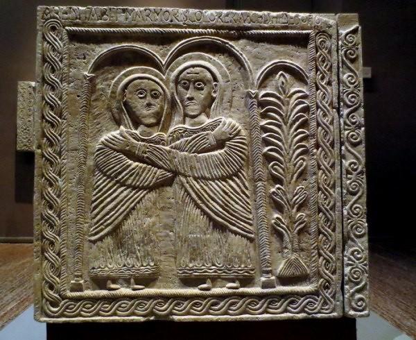43 Алтарь короля Рахиса. Встреча Марии и Елизаветы