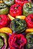 Stuffed peppers (Cori Mordaunt) Tags: redpeppers greenpeppers tomatosauce savoury yukongoldpotatoes greekfeast food maincourse nikon nikond600