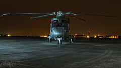 Royal Navy AgustaWestland EH-101 HC.4 Merlin ZJ130-4 (Ben Stanley Hall) Tags: royal navy agustawestland eh101 hc4 merlin zj130 threshold aero nightshoot night shoot aw101 rnas naval air station yeovilton rn fleet arm commando hms heron egdy yeo yeovil somerset ministry defence helicopter helo chopper copter canon
