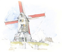 België, Gistel, Oostmolen (Linda Vanysacker - Van den Mooter) Tags: belgië gistel oostmolen 2019 belgique belgium westvlaanderen flandre flanders watercolor watercolour visiblytalented vanysacker vandenmooter tekening sketch schets potlood pencil lindavanysackervandenmooter lindavandenmooter drawing dessin croquis crayon art aquarelle aquarell aquarel akvarell acuarela acquarello molen moulin mill