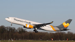 Farewell (Treflyn) Tags: household name gone skies better times thomas cook airlines a330 332 330 airbus a330200 gmljl take off hog man manchester airport bound holguín cuba farewell