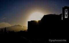 Mount Etna sunset (stewardsonjp1) Tags: taormina italy sicily eastern bells church sunset erupt volcano mount etna mountain