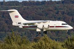 ZE700_09 (GH@BHD) Tags: ze700 bae bae146cc2 raf royalairforce no32sqn belfastcityairport 146100 bae146 bhd egac aircraft aviation airliner vip military transporter transport corporate executive
