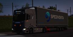 (gripshotz) Tags: spediventa transport logistik gmbh skin scania r 500 krone mega liner euro truck simulator ets 2
