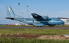 CN235M_253_IRL_BRU_AUG2019 (Yannick VP) Tags: military maritime patrol aircraft airplane aeroplane prop propliner turboprop propjet casa cn235m 253 irishaircorps marine irish253 taxiway twy j airside aviation photography planespotting airplanespotting brussels airport bru ebbr belgium be europe eu august 2019