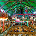 Interior of Augustiner Festhalle tent in the Oktoberfest 2019