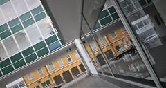 Kaufhof Perspectives (roomman) Tags: 2019 germany town city walk early morning old centrey worms rhein rhine rlp pfalz rheinlandpfalz house houses perspective church holy building tower kirche shop shopping window galeria kaufhof