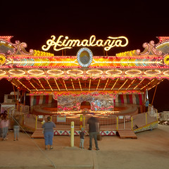 himalaya. holtville, ca. 2018. (eyetwist) Tags: eyetwistkevinballuff eyetwist himalaya carousel holtville carrotfestival night longexposure mamiya 6mf 50mm kodak portra 400 mamiya6mf mamiya50mmf4l kodakportra400 ishootfilm ishootkodak analog analogue film emulsion mamiya6 square 6x6 120 filmexif epsonv750pro mediumformat lenstagger landscape americana americantypology signgeeks type typography lettering midway carnival amusement rides kids carrot elcentro imperialcounty farm bulbs lights fast tripod california festival ride