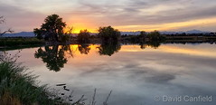 September 24, 2019 - Sunset reflections on McKay Lake. (David Canfield)