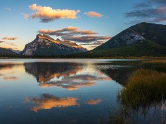 Mount Rundle Sunset in Vermillion Lakes (www.mikereidphotography.com) Tags: canadianrockies vermillionlakes rundle fallcolors fuji gfx50s sunset clouds water reflection mediumformat banff canada explore