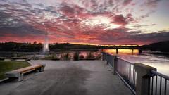 Coucher de soleil sur le vieux port (gaudreaultnormand) Tags: calme canada chicoutimi coucherdesoleil paysage port quebec saguenay sunset