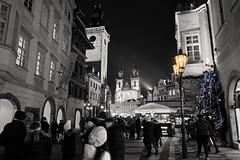 Prague in Christmas feeling (jeo41) Tags: prague czech nightshot christmas winter travel city historic christmastree clock praha