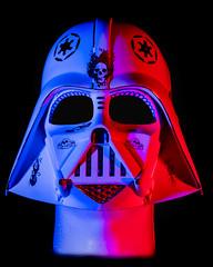 Strobes on Darth Vader Sugar Skull Mask (Steve Holsonback) Tags: darth vader mask strobes red gel blue sony a7rii 85mm