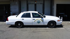 California Highway Patrol (Emergency_Spotter) Tags: california highway patrol ford crown victoria chp cvpi p7b steelies dual chrome spots primary collision factor pcf polar bear push bumper