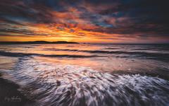 Morning Colour (RTA Photography) Tags: paignton beach sky dawn sunrise seascape light horizon clouds colour waves motion outdoors coast rtaphotography nikon d750 nikkor 1835 nature devon torbay