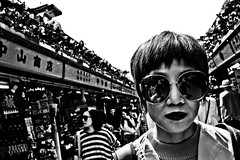 Close Up Tokyo (Victor Borst) Tags: trip travel travelling face asian asia asians faces candid traveling asakusa tr paars street urban blackandwhite bw sexy monochrome female mono fuji streetphotography streetlife monotone fujifilm urbanjungle urbanroots woman sun hot reflection beautiful beauty sunglasses japan lady real japanese tokyo reallife selfie realpeople happyplanet asiafavorites