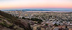 Twin Peaks panorama (j1985w) Tags: california sanfrancisco sanfranciscobay hills city cityscape sky sunset bay twinpeaks