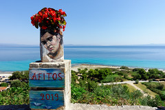 The Painters View (Alfred Grupstra) Tags: sea beach summer outdoors blue travel vacations tourism nature traveldestinations island cultures people famousplace coastline day flower multicolored europe nopeople greece afytos