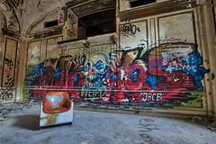 Weird Skull (Brook-Ward) Tags: mi skull hotel weird michigan detroit brook ward hdr old urban art abandoned chair mural decay ballroom grime exploration abandonment ue urbex bando griffiti travel vacation holiday