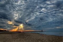 So So Sunset Great Clouds.jpg (Milosh Kosanovich) Tags: washingtonparkbeachsunset chicagophotographicart chicagophotoart photomatixpro nikond850 michigancitylighthouse precisiondigitalphotography greatclouds miloshkosanovich michigancityindiana mickchgo dxophotolab2 chicagophotographicartscom nikkor28300f3556 hdr