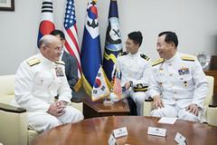 190925-N-BB269-1124 (U.S. Pacific Fleet) Tags: cno chiefofnavaloperations admmikegilday admsimseungseob korea republicofkorea ministerofdefensejeongkyeongdoo seoul