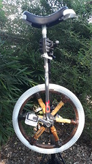 Bamboo scooter pedal and unicycle