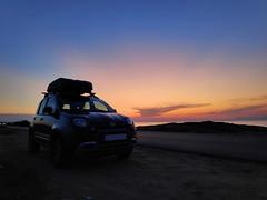 89 Περαία ηλιοβασίλεμα 14 (JimmuClarku) Tags: fiat fiatpandacross fiatpandacrossgrey fiatpanda panda panda4x4 pandacross totoro