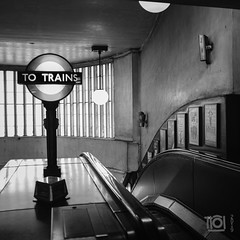 How the Tube used to be - St John's Wood (Paul Perton) Tags: bw fuji london stjohnswood tube x100f blackandwhite candid city dirty escalator grubby historic outdoor square street streetphotography urban