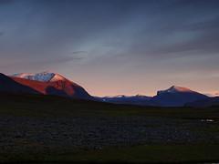 Livamcohkka 1 (dration) Tags: sweden lapland kungsleden sunset evening mountain sky landscape