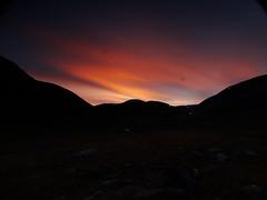 Sunset, Sälka Sealgga (dration) Tags: sweden lapland kungsleden sunset evening mountain sky landscape