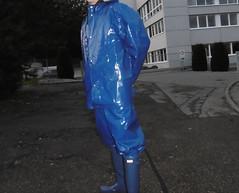 Shiny in Blue (lulax40) Tags: rubber rubberboots rainwear regenkleidung farmerrain fetishist abeko raingear rubberslave rubberfetish rubberman gummikleidung gummistiefel gummiregenkleidung gummimann latex latexfetisch hunterboots humiliation hunter