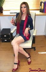Seated Secretary (jessicajane9) Tags: tg crossdresser tranny femme xdress trans m2f crossdressed trap cd feminised travesti femboi crossdress transvestite feminization tgurl crossdressing tv tgirl