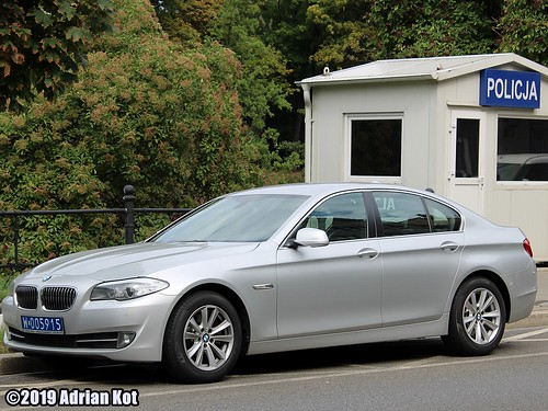 BMW 5 F10 with diplomatic plates