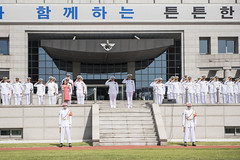 190925-N-BB269-1014 (U.S. Pacific Fleet) Tags: cno chiefofnavaloperations admmikegilday admsimseungseob korea republicofkorea ministerofdefensejeongkyeongdoo seoul