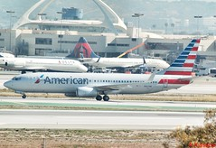 AMERICAN AIRLINES B737 N967AN (Adrian.Kissane) Tags: taxing 737 boeing airport arriving ramp la sky outdoors airline airliner jet plane aircraft aeroplane 29545 2042016 b737 n967an lax americanal